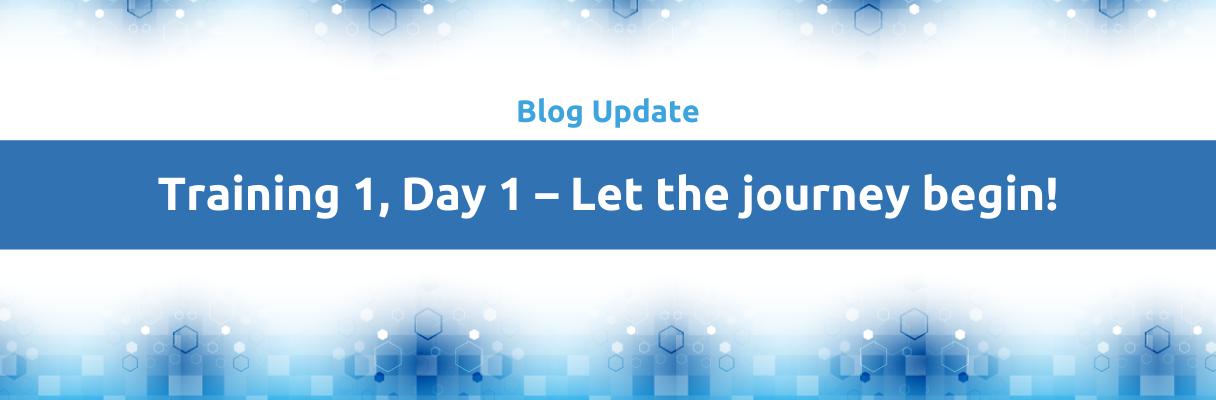 Blog: Let the journey begin!