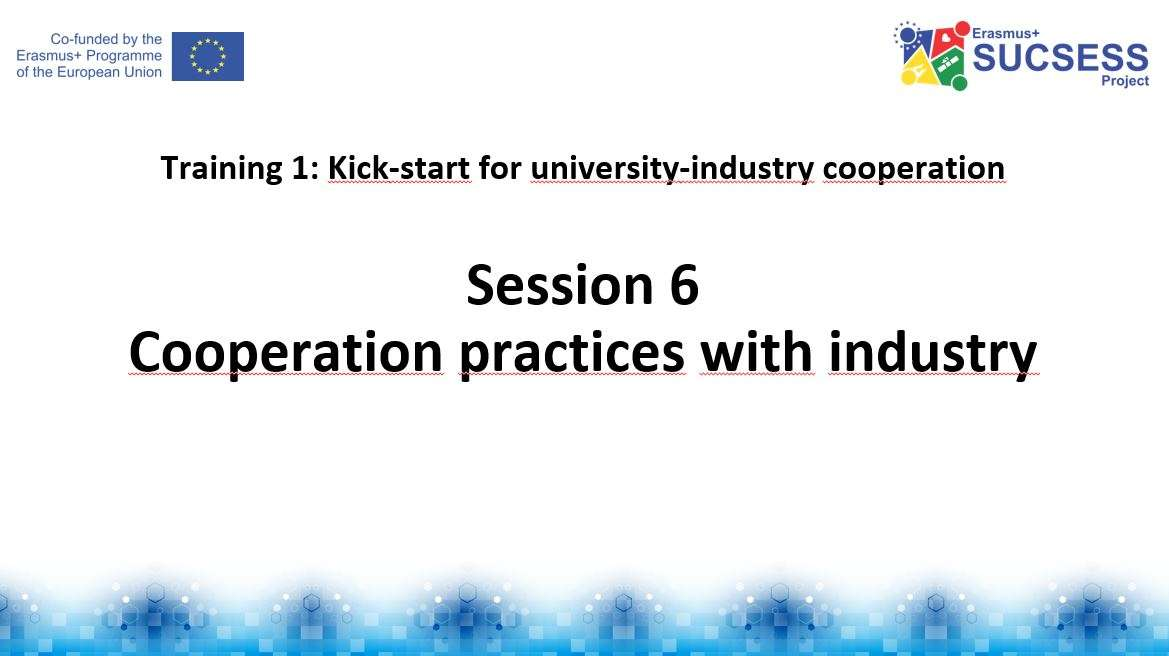 Focusing on cooperation practices with industry